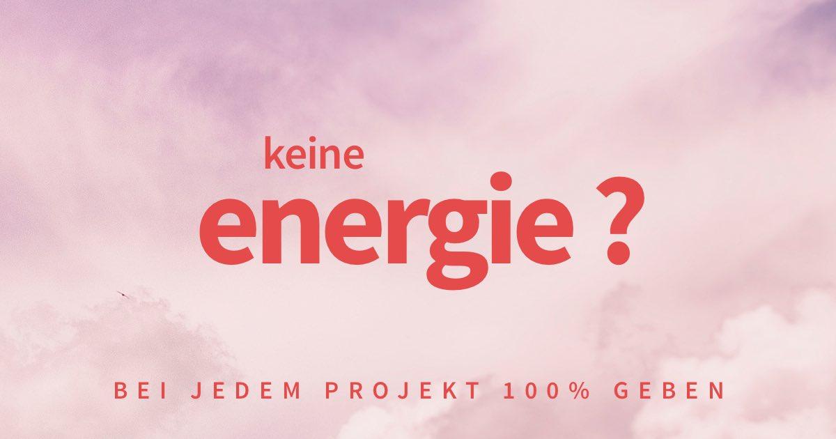 Dir fehlt die Energie, um weiter an einem Projekt zu arbeiten?