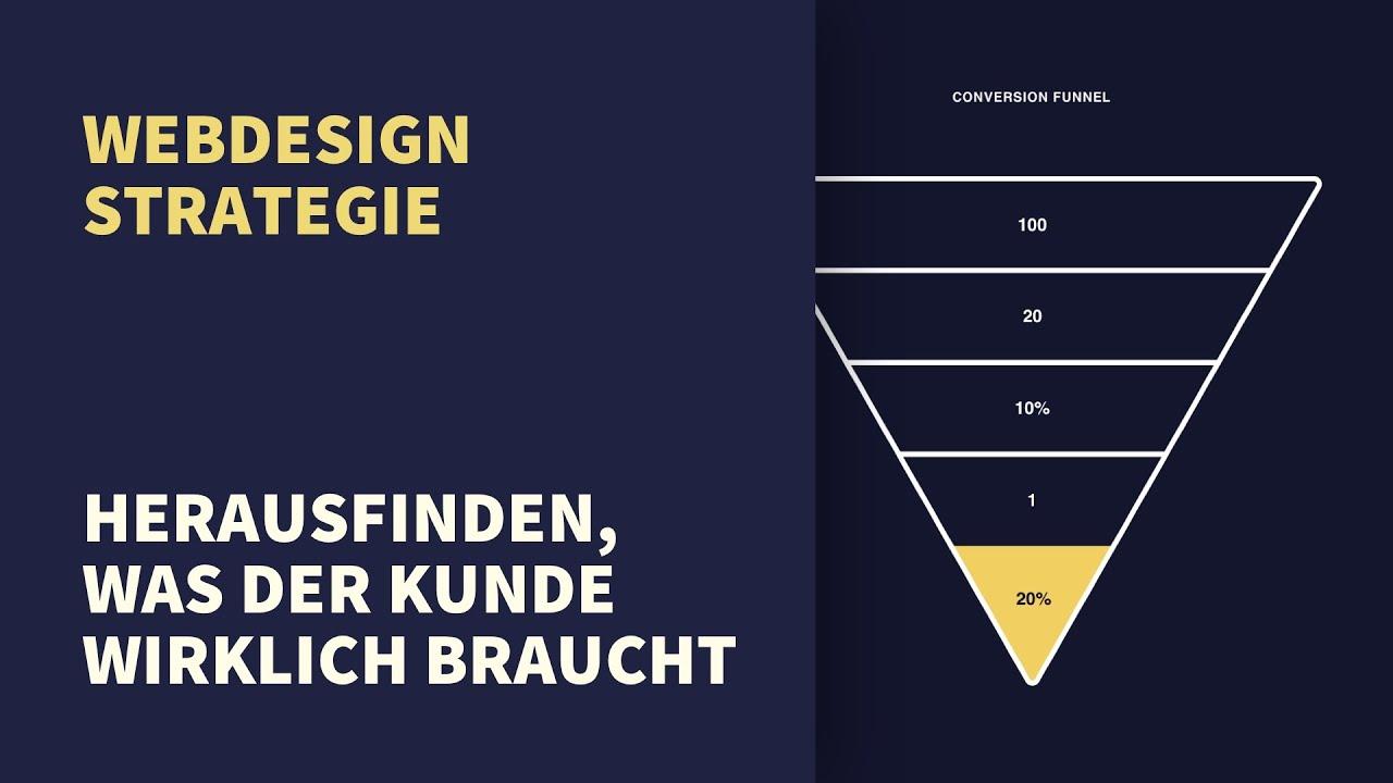 Webdesign Strategie: Rausfinden was der Kunde wirklich braucht