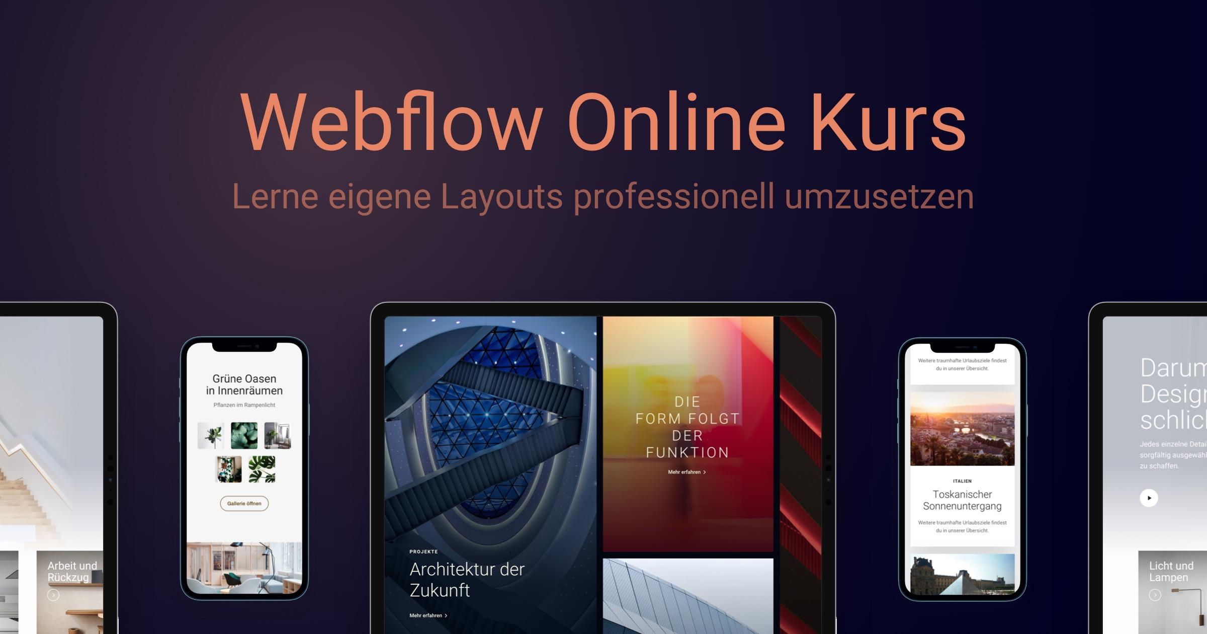 Mein Webdesign Webflow Kurs ist online!