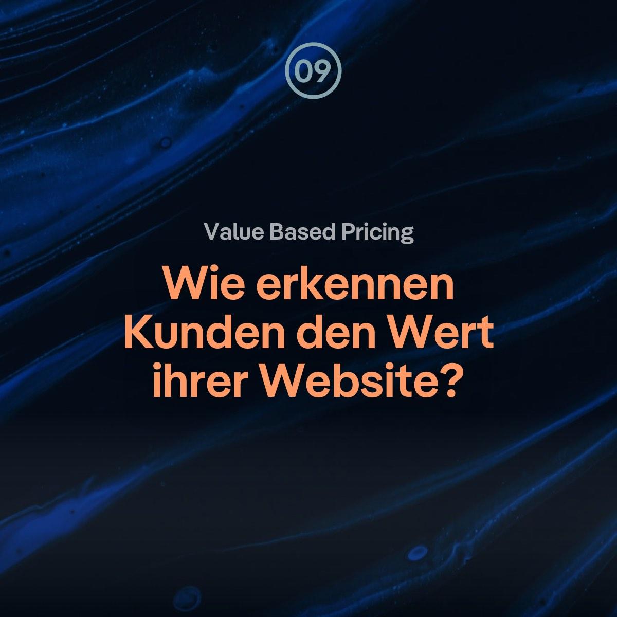 VBP: Wie kann man Kunden den Wert ihrer Website erkennen lassen?