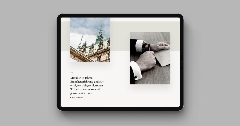 QUAAN Capital Website Relaunch in Webflow