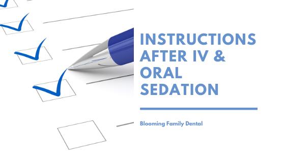 Instructions After Sedation