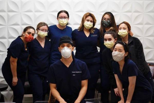 Blooming Family Dental Staff wearing masks