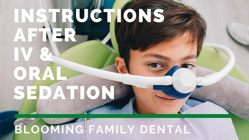 Instructions After Oral Sedation