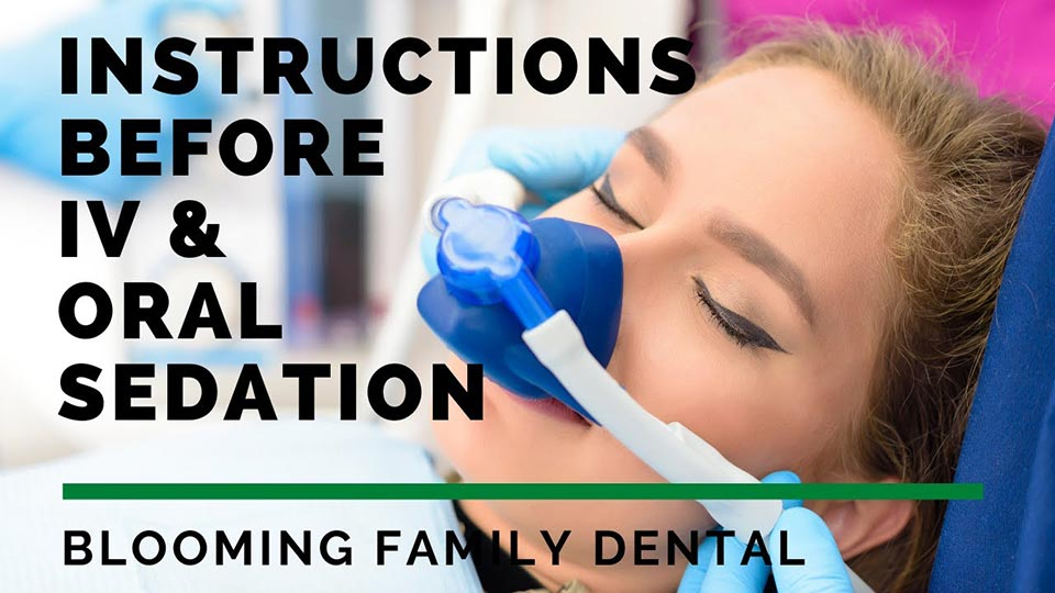 Instructions Before IV Oral Sedation