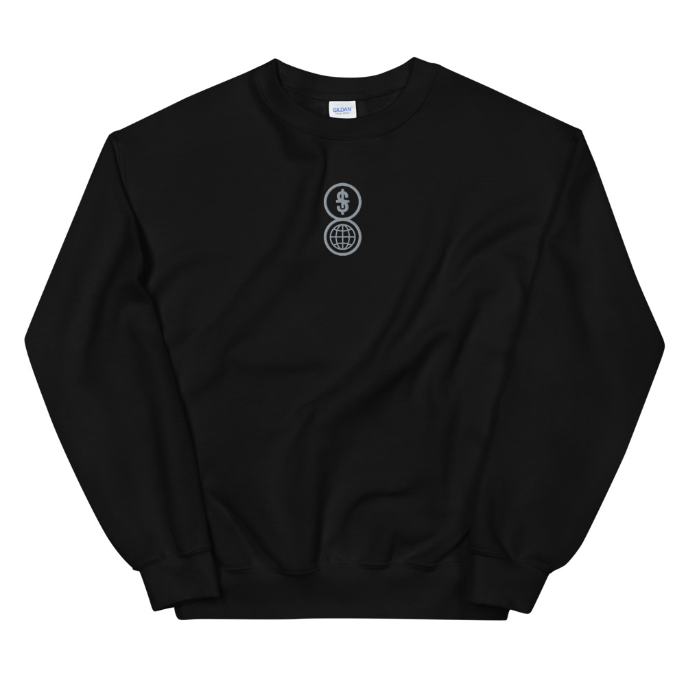 Anti-capitalism embroidered sweatshirt