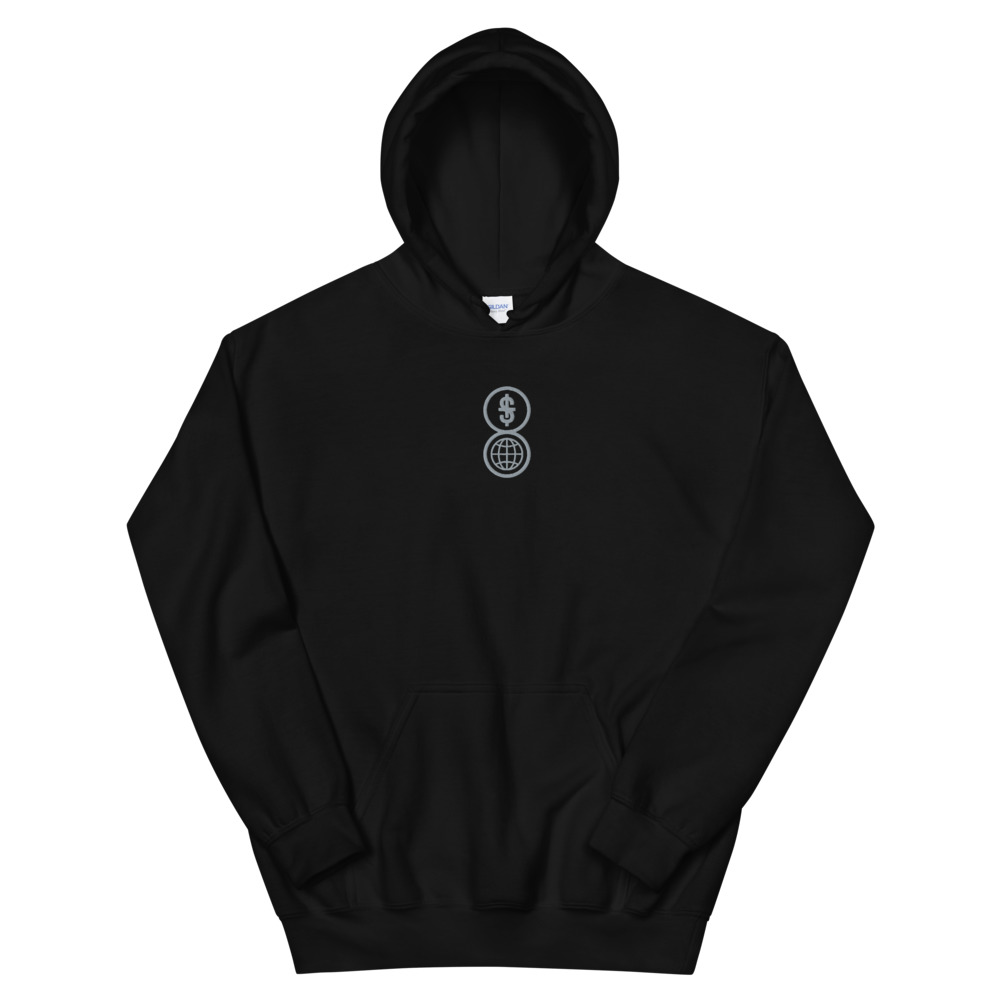 Anti-capitalism embroidered hoodie