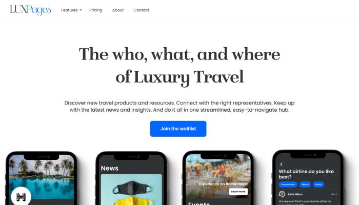 LUXPages Website Landing