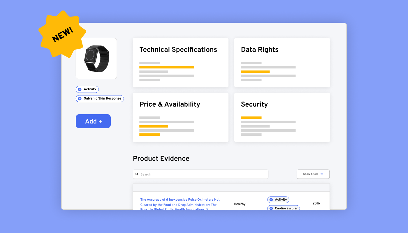 Example of adding a new product to our platform