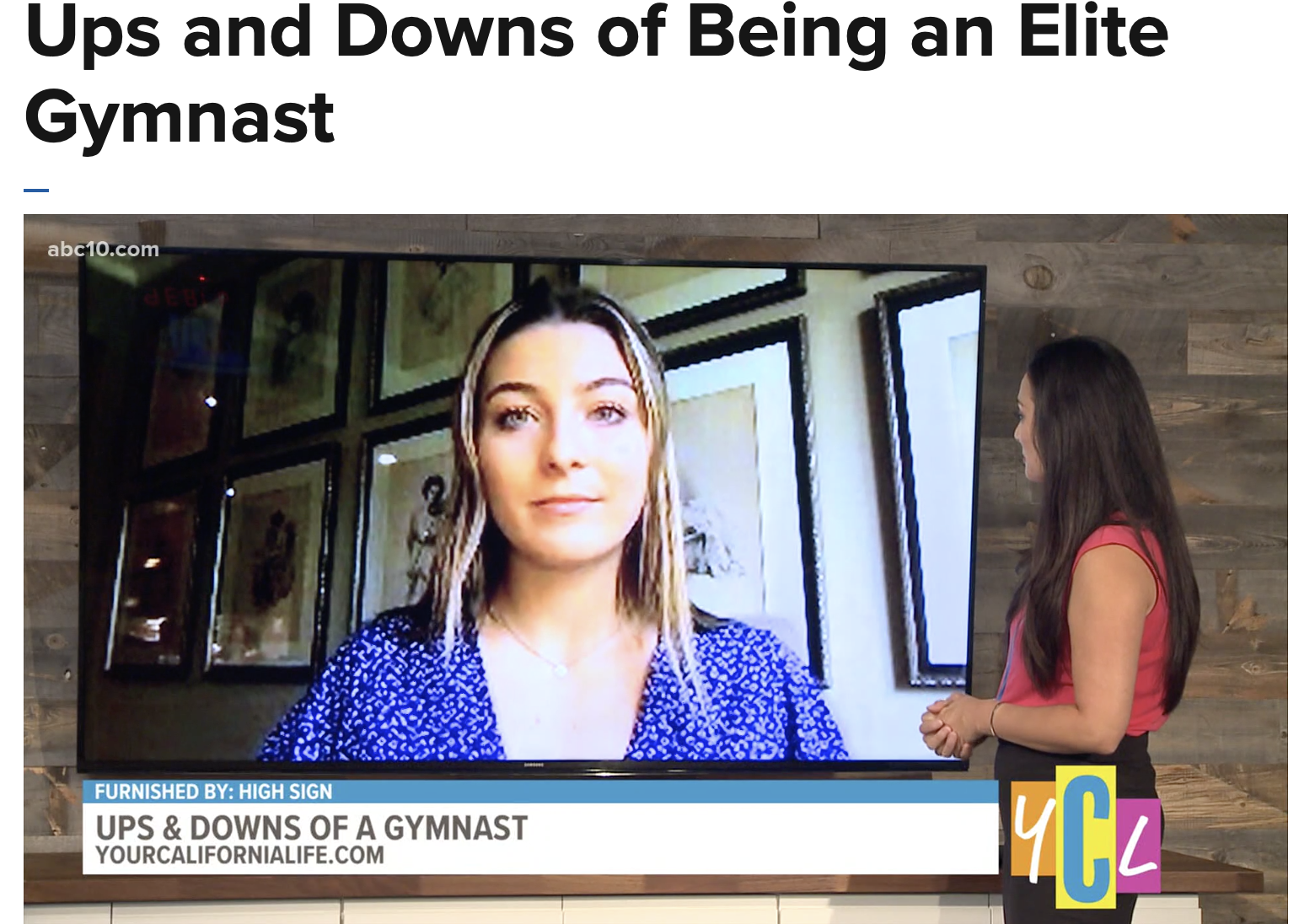 Ups and Downs of Being an Elite Gymnast