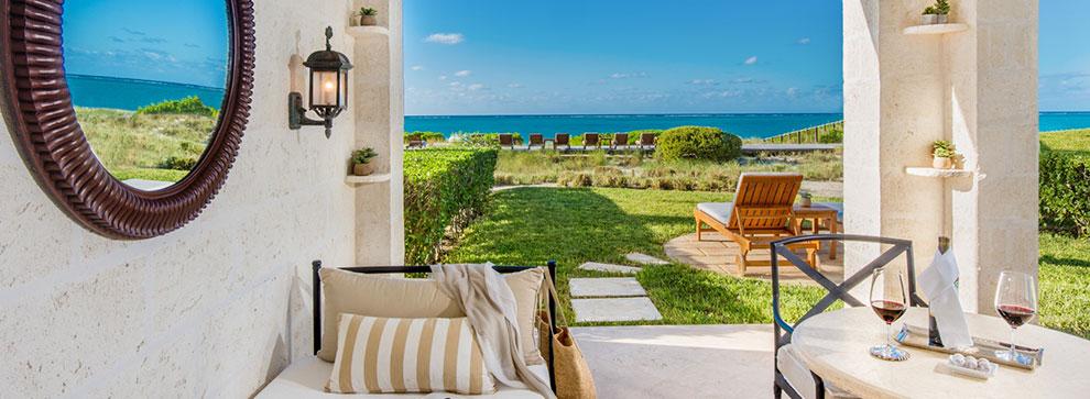 Lavish 640 sq. ft. studio suites at Grace Bay resort, The Palms.