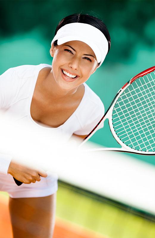 Full service tennis court.