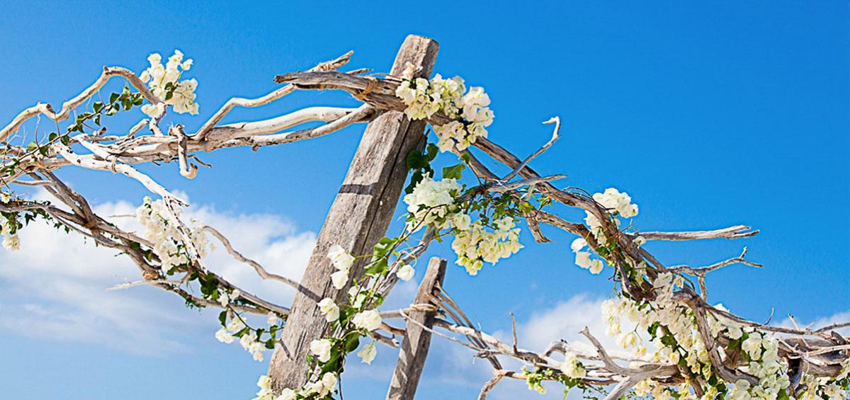 Turks and Caicos beach wedding ceremony on Grace Bay