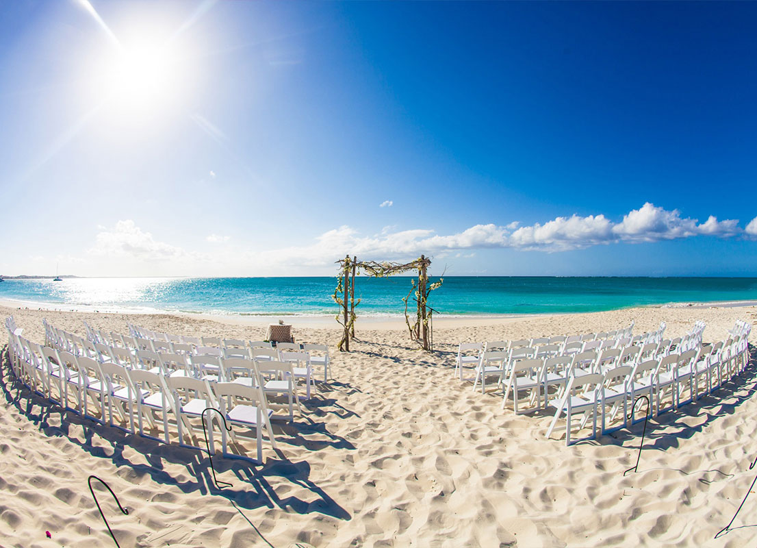 Wedding reception at The Palms Turks and Caicos