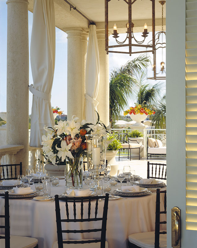 Garden receptions Turks and Caicos at The Palms