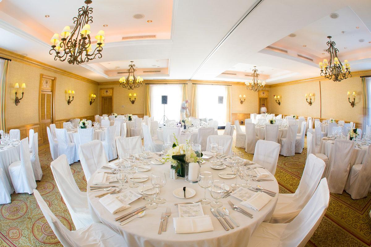 Ballroom wedding reception Turks and Caicos at The Palms