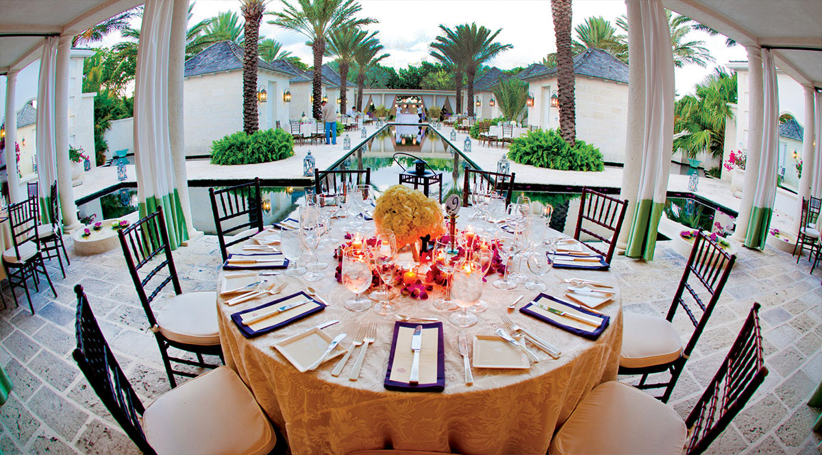Booking a wedding party and reception at The Palms Turks and Caicos