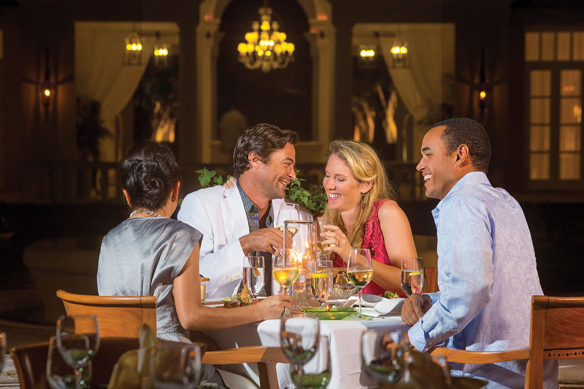 Fine dining options on Providenciales at The Palms