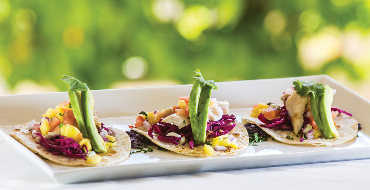 Caribbean inspired menu at The Palms 72 degrees West restaurant