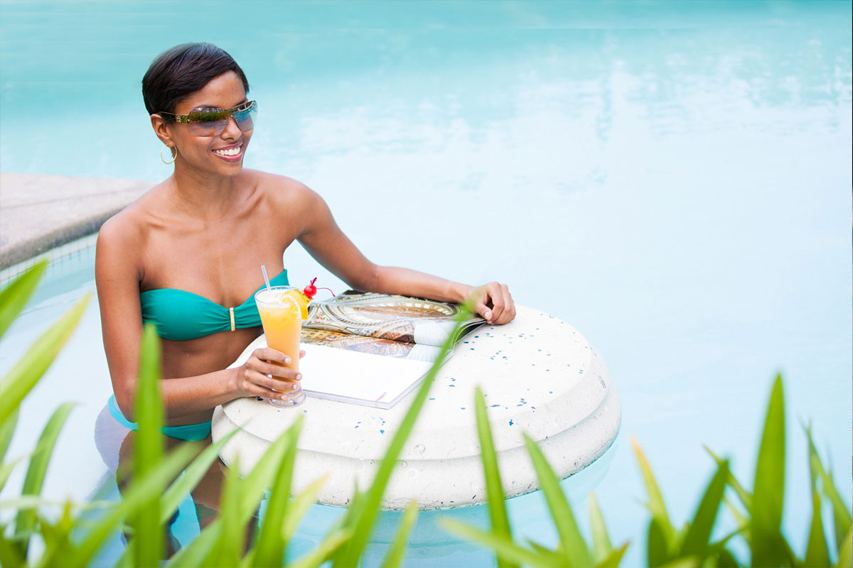 Poolside service at The Palms Turks and Caicos