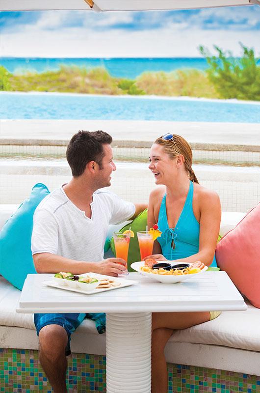 Ozmosis beach bar at The Palms Turks and Caicos