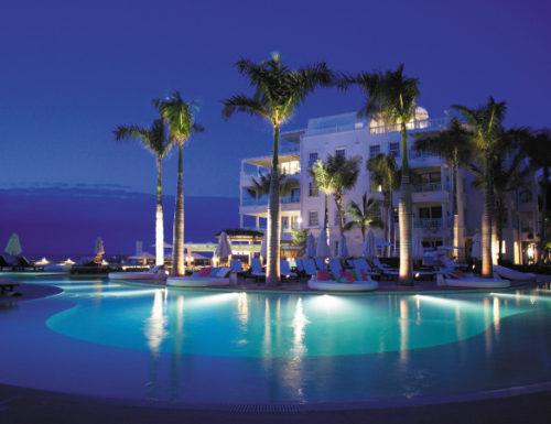 The Palms Turks and Caicos night lit pool