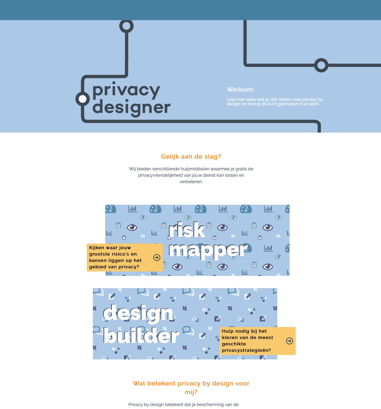 Privacy Designer homepage