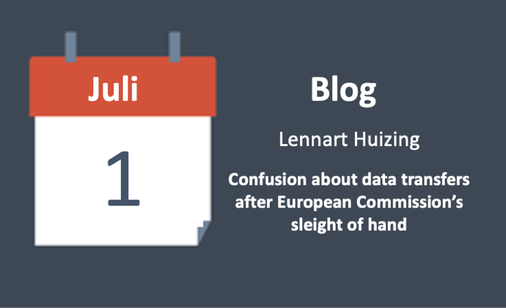 Confusion about data transfers after European Commission's sleight of hand