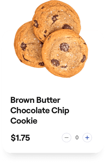 brown butter chocolate chip cookie card
