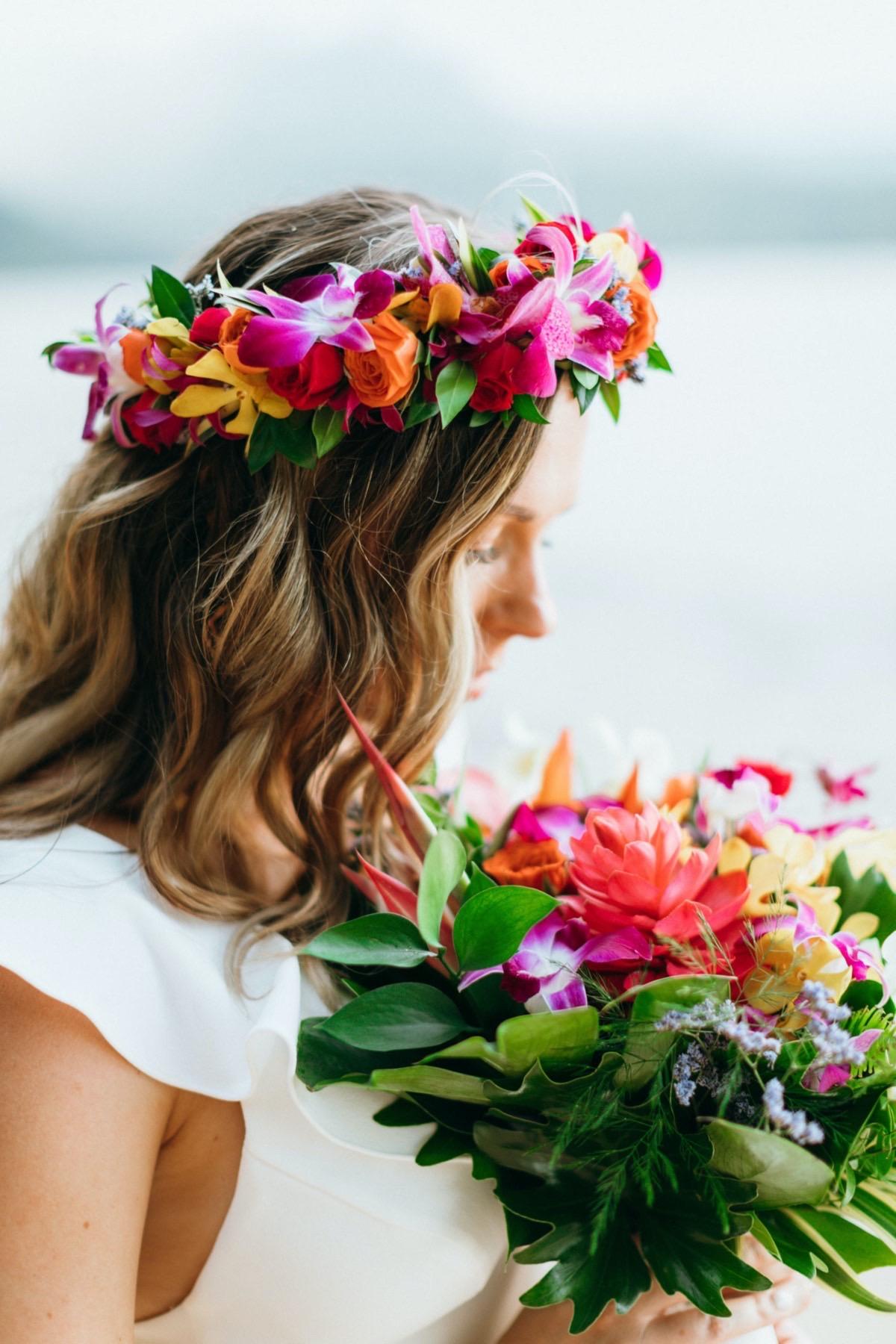 Hawaiian Haku lei.