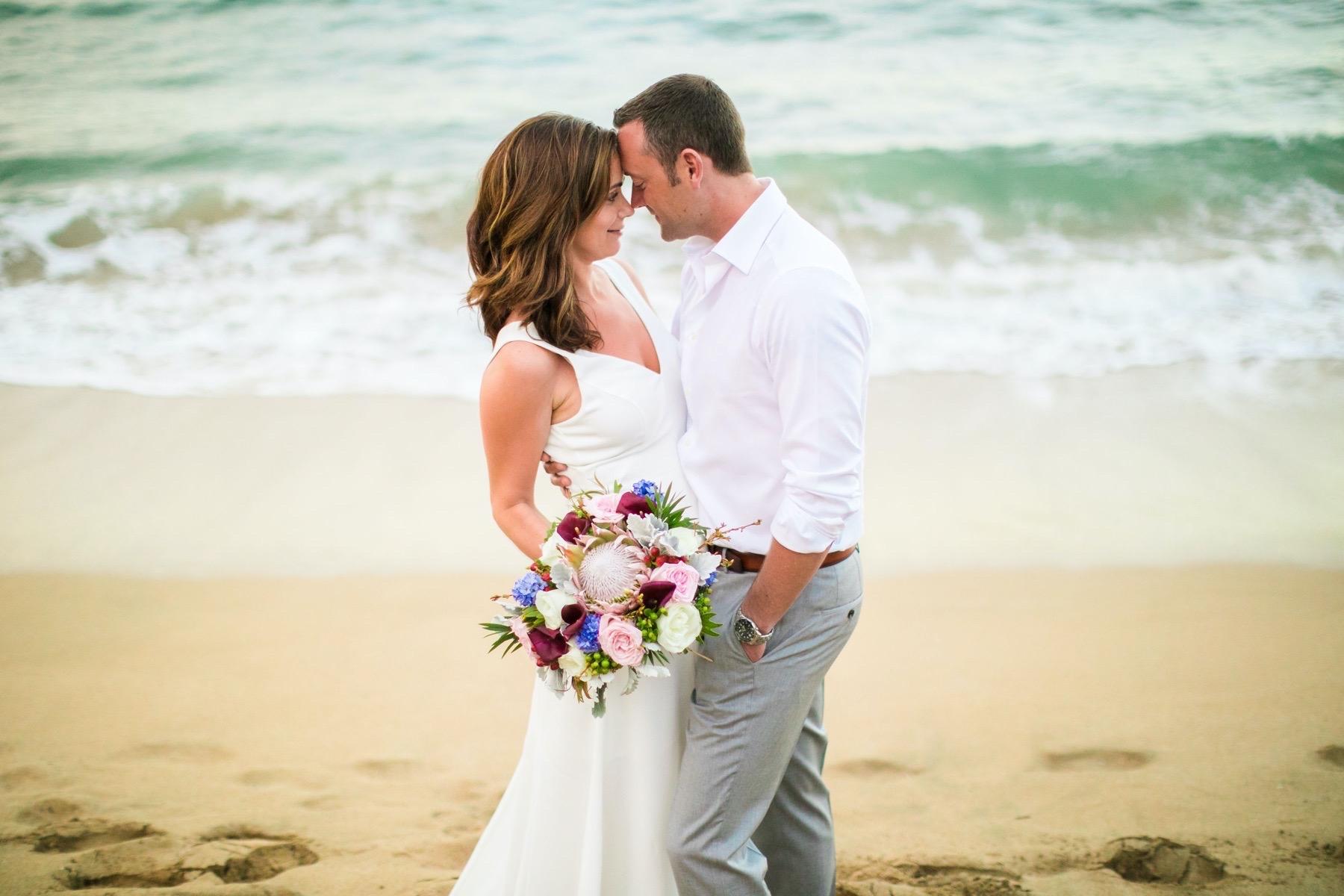 Samantha and Levi eloping in Hawaii.