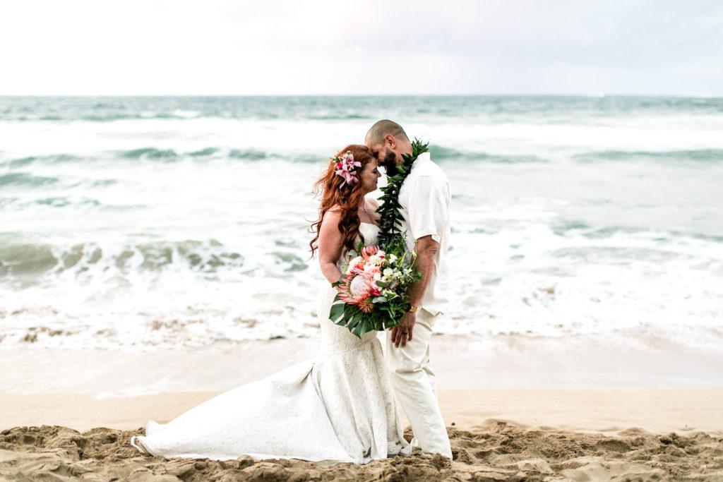 Hannah and Ramon on their wedding day in Hawaii.