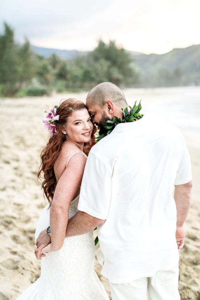 Bride and Groom eloping in Hawaii.