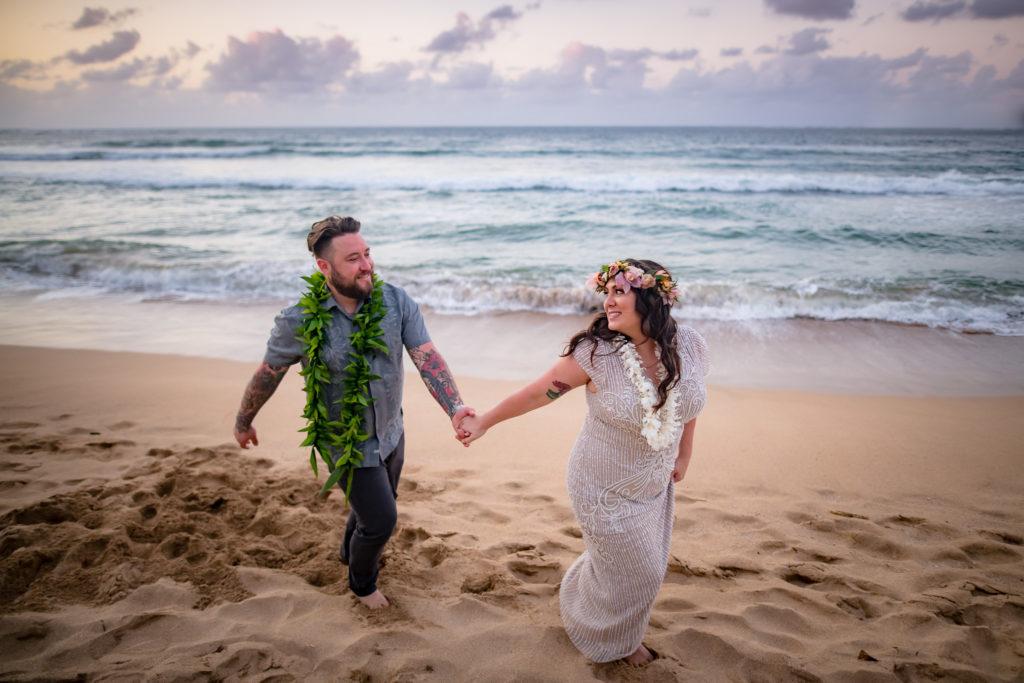 Bride and Groom eloping in Kauai.