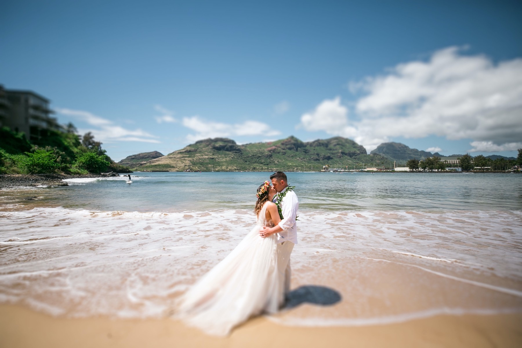 Kristen and Ryan on the beach in Kauai.