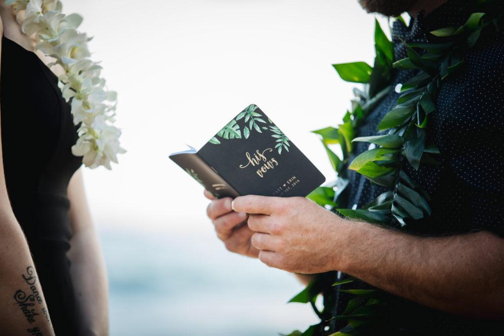 Wedding on the beach in Kauai.