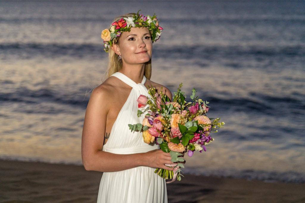 Bride on her wedding day.