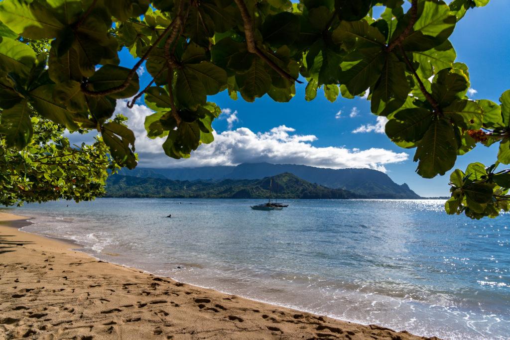 View from the beach in Kauai.