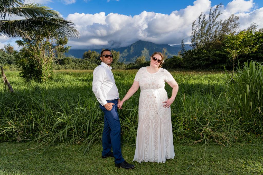 Bride and Groom in Hawaii.