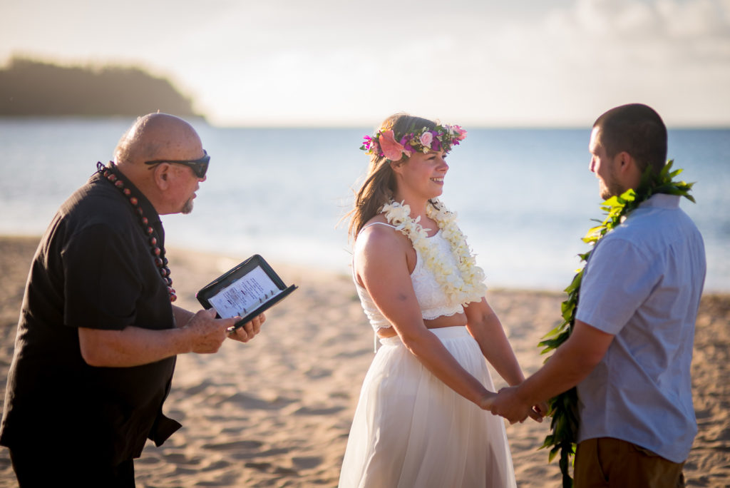 Getting married in Hawaii.