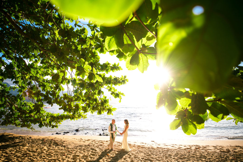 Eloping on the beach.