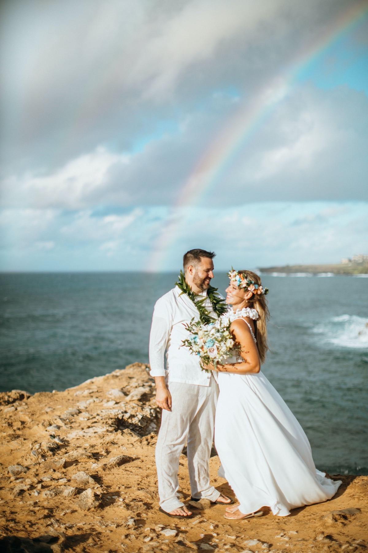 Michael & Ashley on the beach in Hawaii.