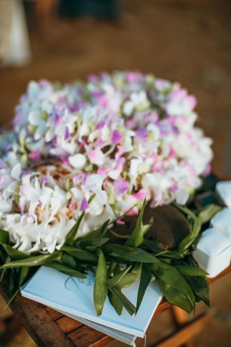 Hawaiian flower bouquet.