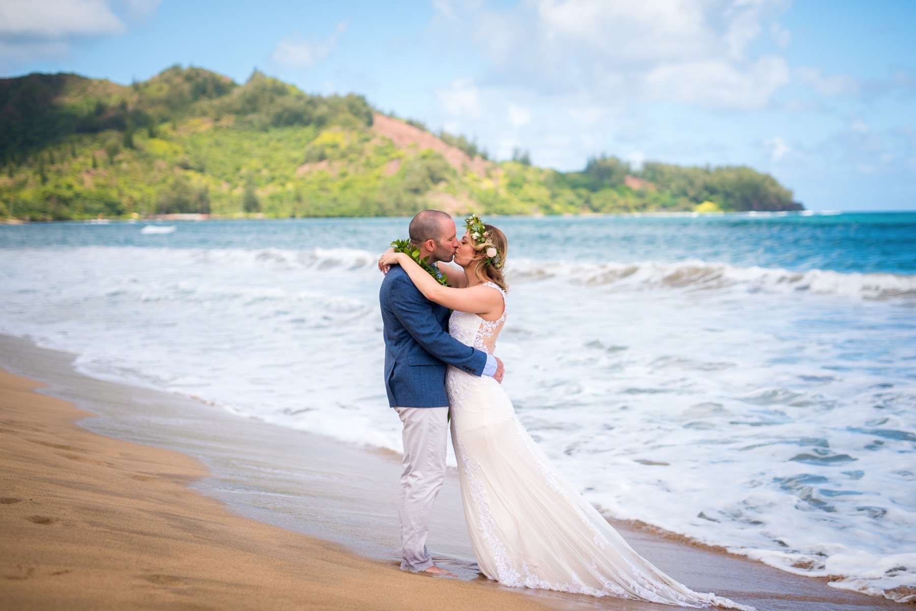 Getting married on the beach.