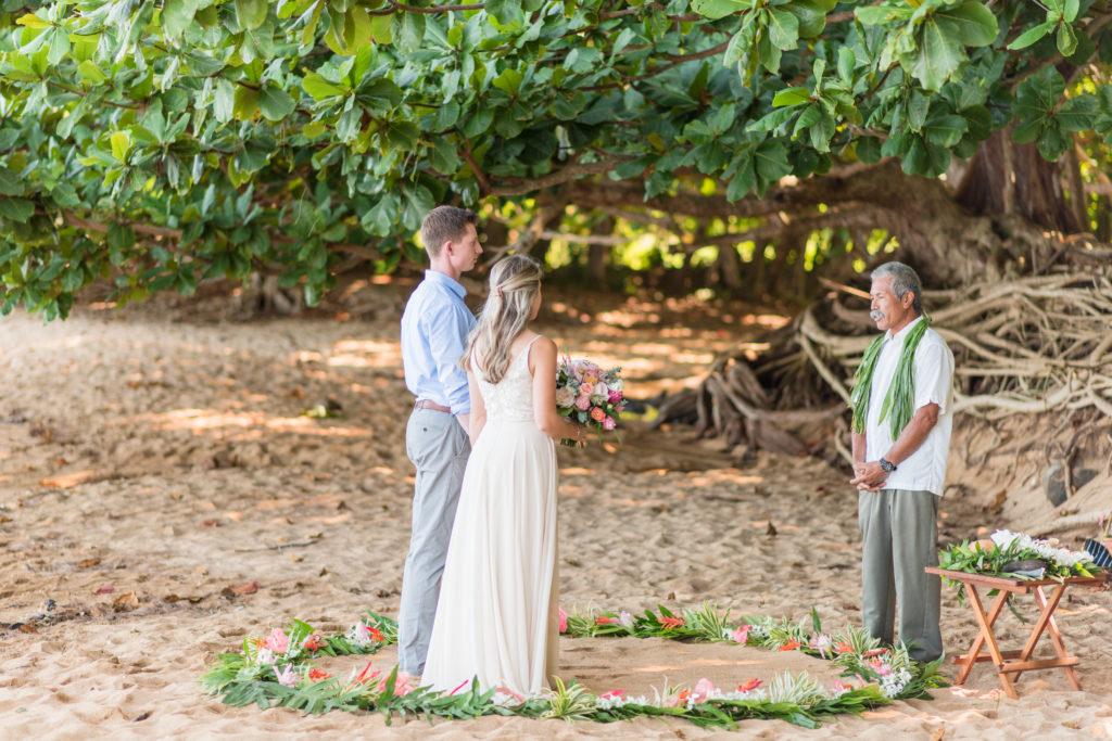 Eloping on the beach in Kauai.