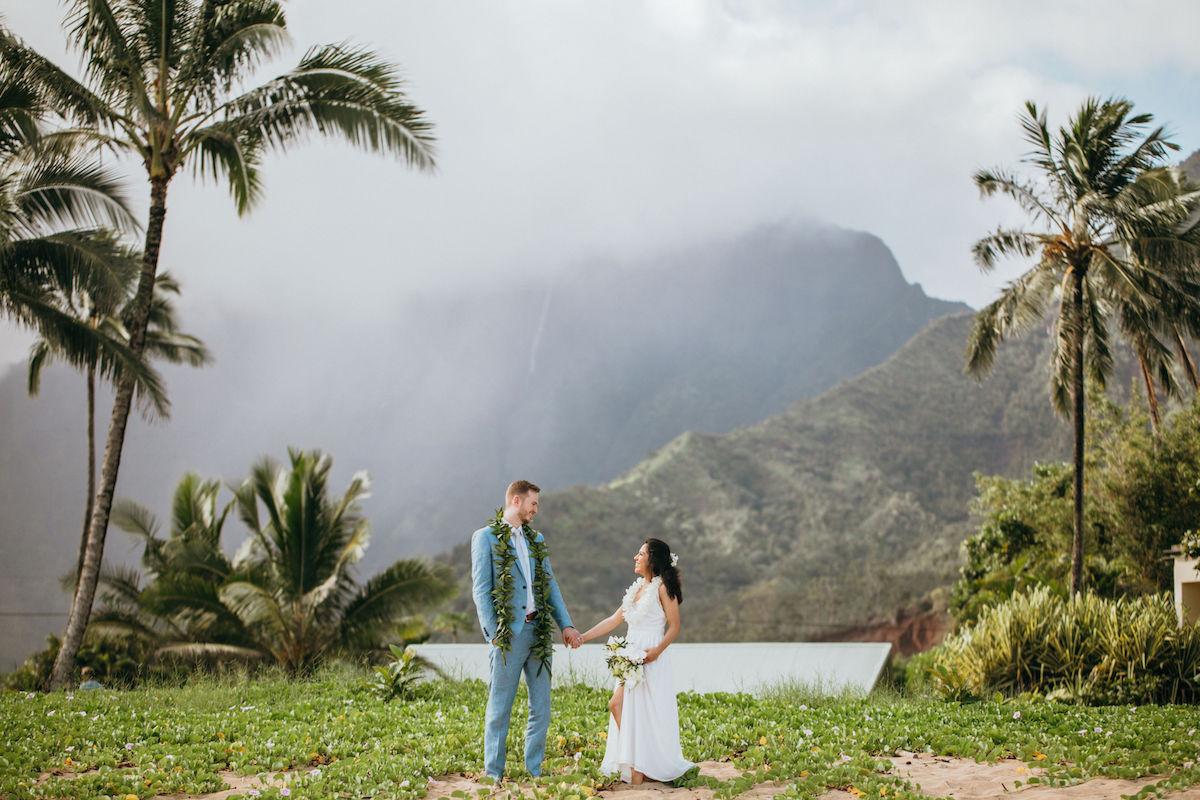 Maribeth & Joe eloping in Kauai.