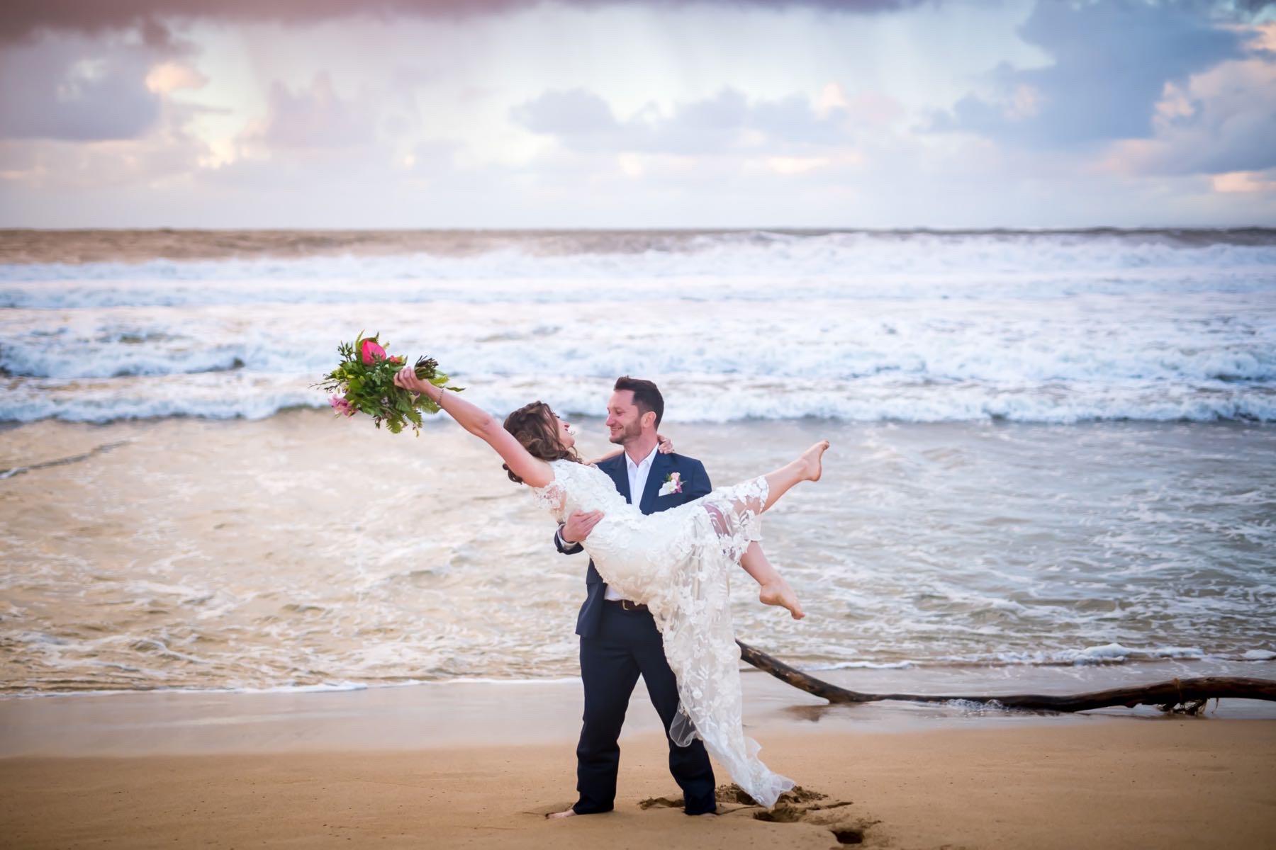 Lori & Joseph eloping in Kauai.