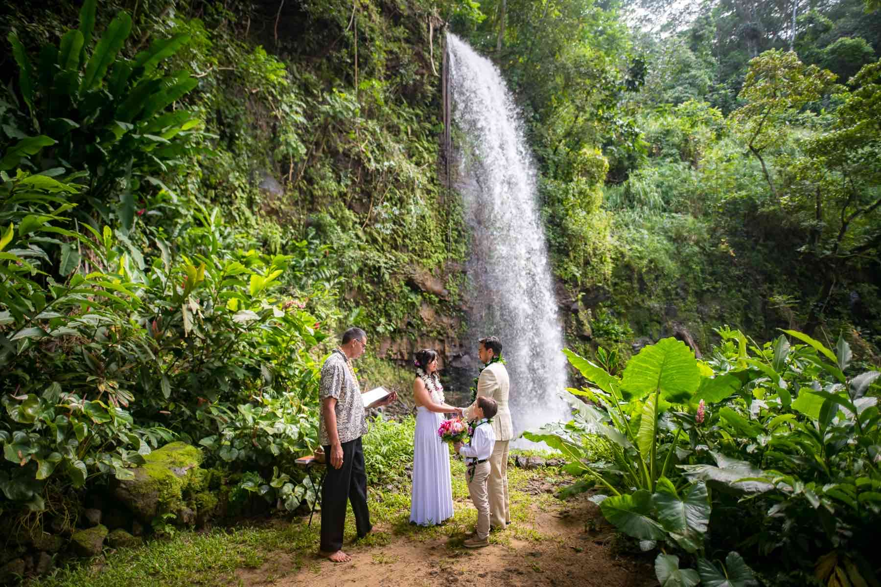 Getting married near at North Shore Falls.