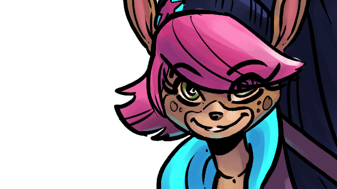 Small portrait of Fawn Velvette, rocking.