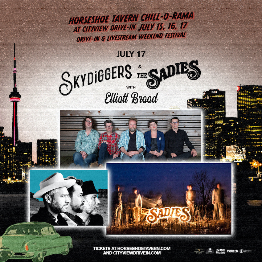 Skydiggers & The Sadies at CityView Drive-In